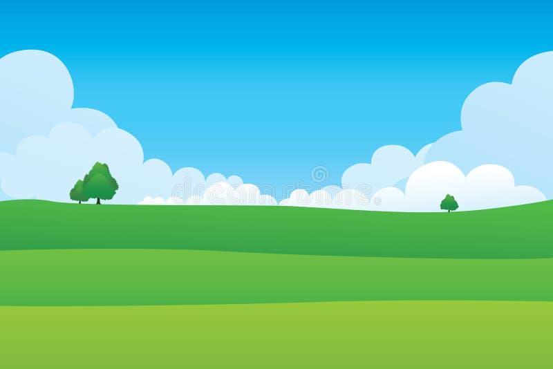 Paisaje de la colina verde libre illustration