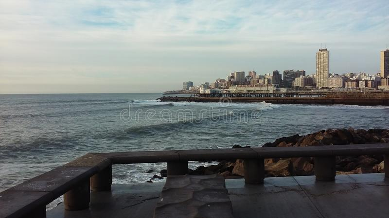 Paisaje de la costa foto de archivo