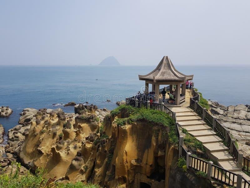 Paisaje de la costa del norte de Taiwán imagenes de archivo