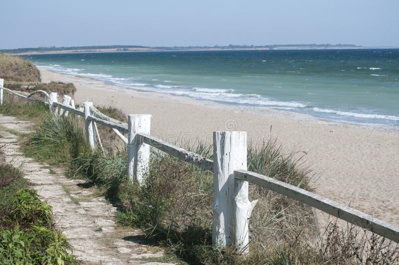 Paisaje de la costa costa del verano fotografía de archivo libre de regalías