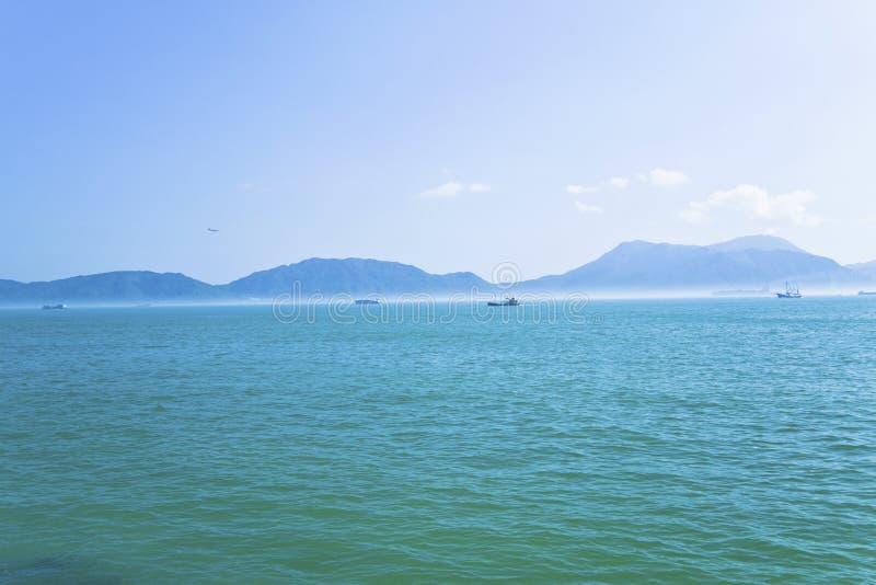 Paisaje de la costa en Hong-Kong fotografía de archivo libre de regalías