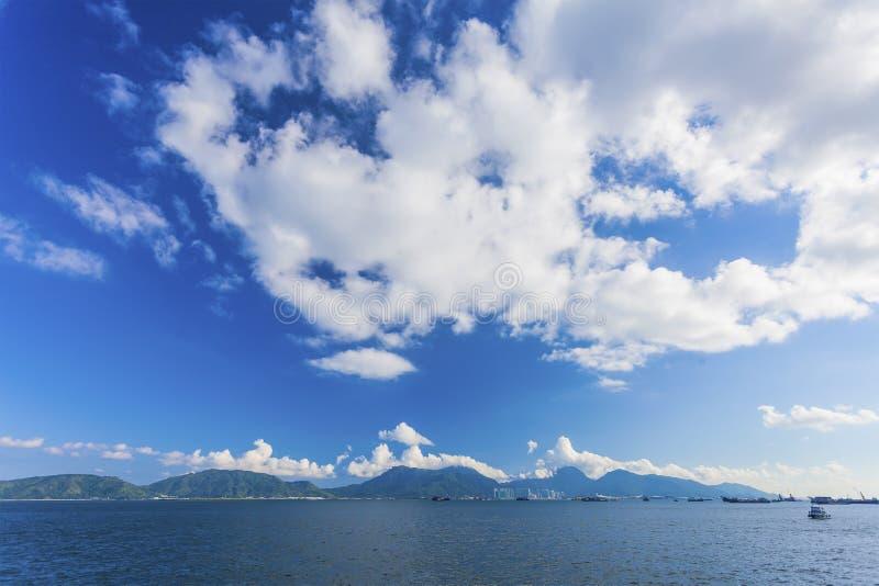 Paisaje de la costa en Hong Kong Lantau Island imagen de archivo