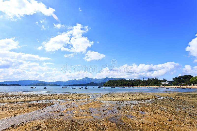 Paisaje de la costa en verano foto de archivo