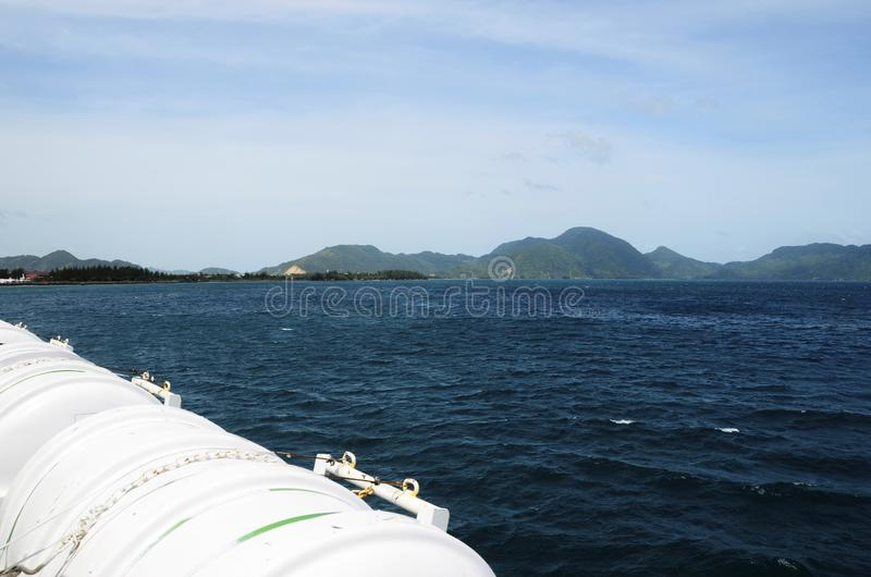 Paisaje de la costa de mar de Banda Aceh foto de archivo libre de regalías