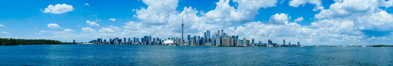 Paisaje de la costa de Toronto imagenes de archivo