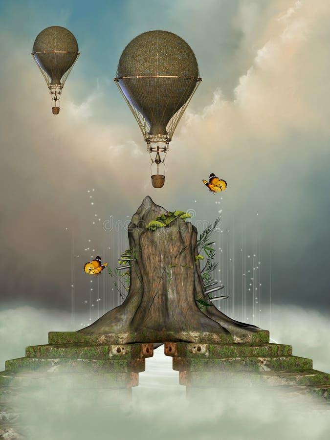 Paisaje de la fantasía libre illustration