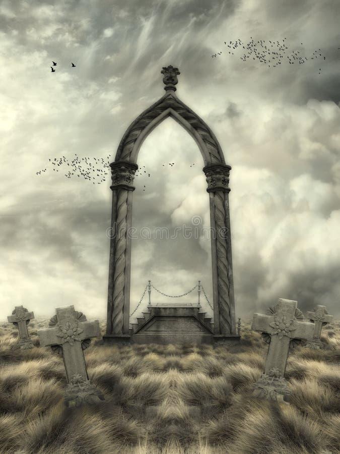 Paisaje de la fantasía ilustración del vector