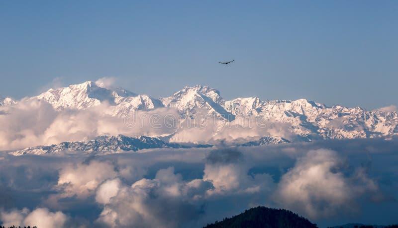 Paisaje de la gama de Himalaya fotografía de archivo libre de regalías