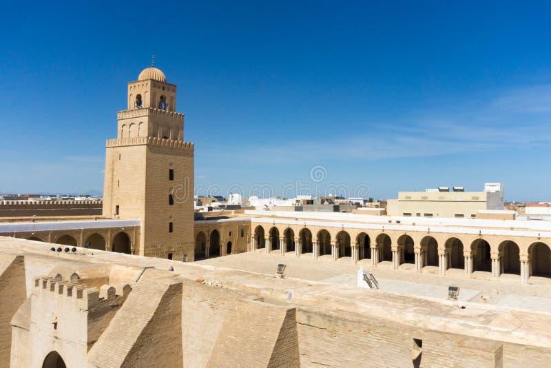 Paisaje de la gran mezquita en Kairouan, T?nez imágenes de archivo libres de regalías