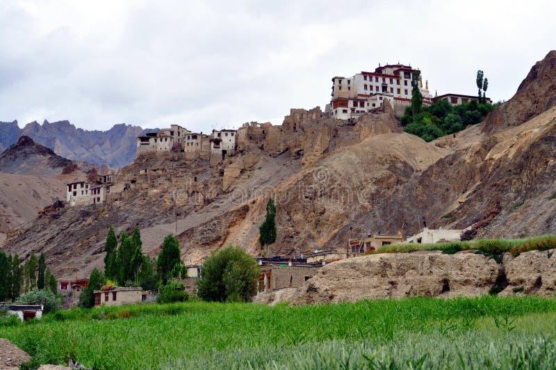 Paisaje de la India - de Ladakh en un día nublado fotos de archivo libres de regalías