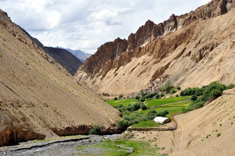 Paisaje de la India - de Ladakh (poco Tíbet) imagen de archivo