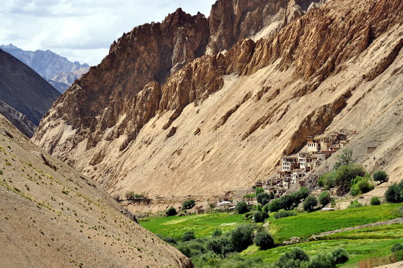 Paisaje de la India - de Ladakh (poco Tíbet) imagenes de archivo