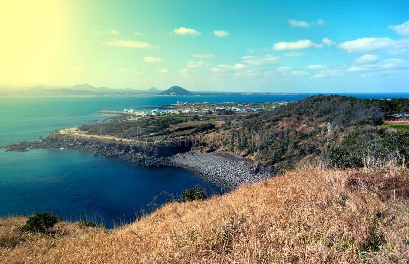 Paisaje de la isla de Jeju, Corea del Sur foto de archivo