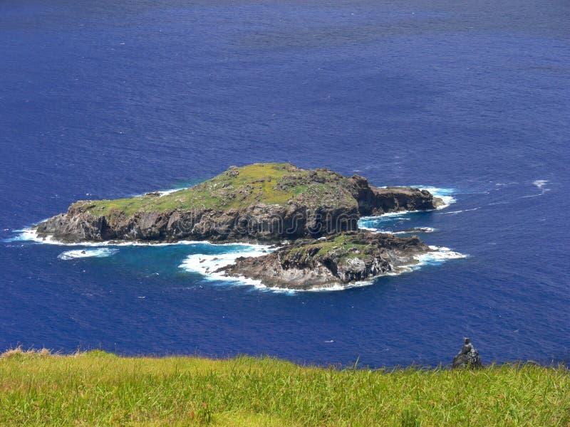 Paisaje de la isla de pascua fotos de archivo libres de regalías