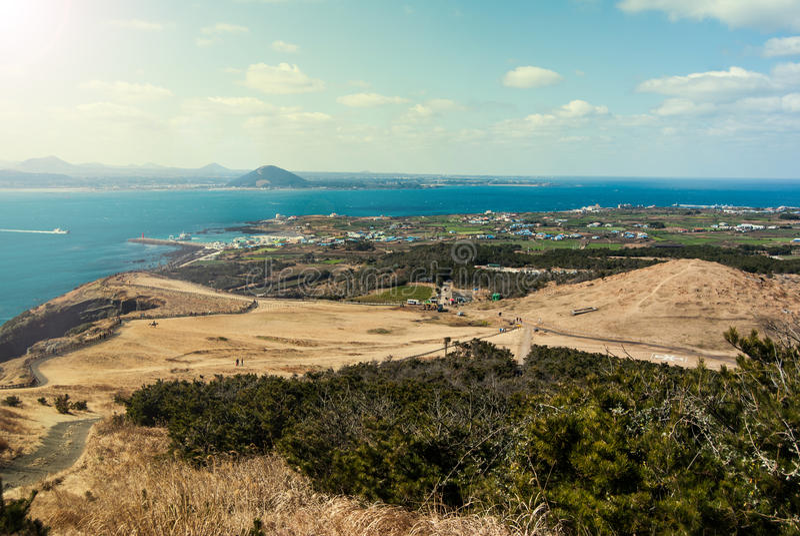 Paisaje de la isla de Udo en la isla de Jeju, Corea del Sur fotos de archivo