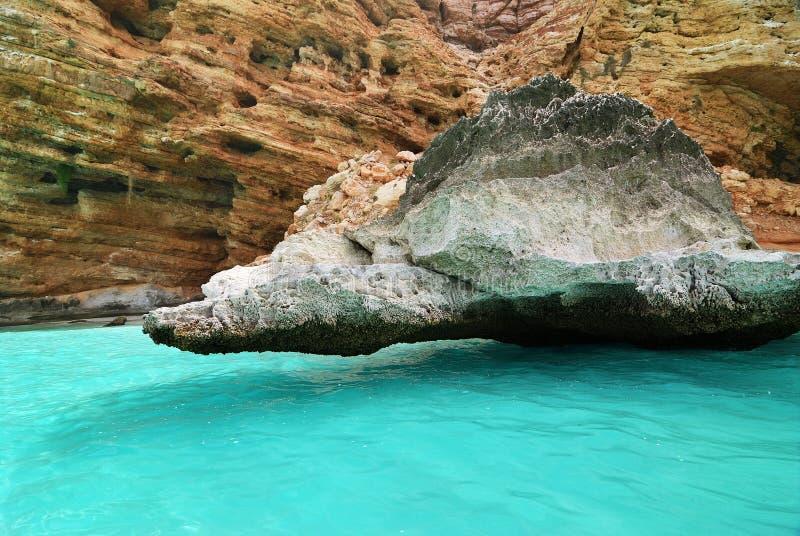 Paisaje de la isla de Socotra, Yemen Acantilado en el Mar Arábigo fotografía de archivo libre de regalías
