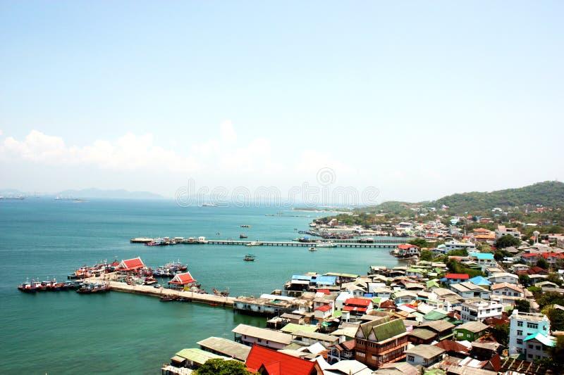 Paisaje de la isla de Srichang, Tailandia Asia foto de archivo libre de regalías