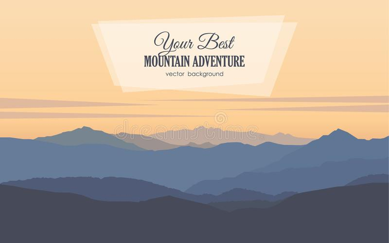 Paisaje de la madrugada de las montañas libre illustration
