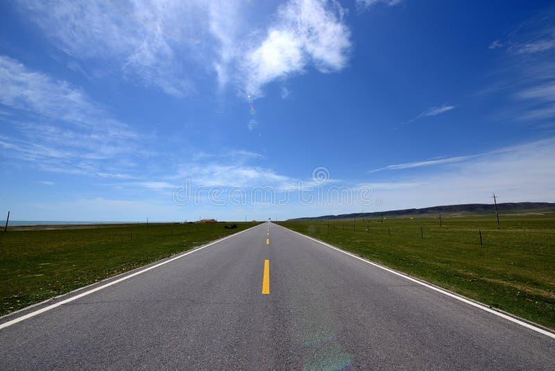 Paisaje de la meseta - camino imagen de archivo