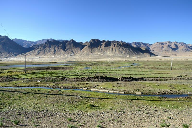 Paisaje de la meseta tibetana imágenes de archivo libres de regalías