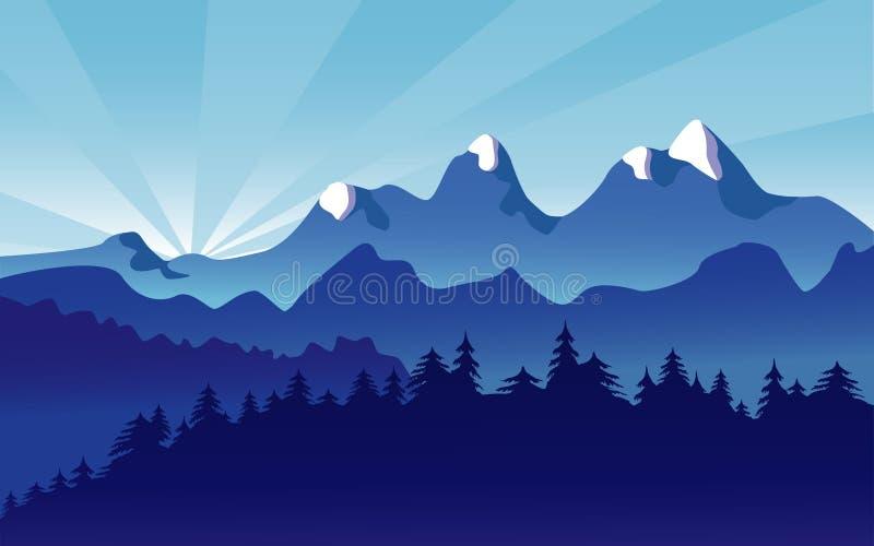 Paisaje de la montaña libre illustration