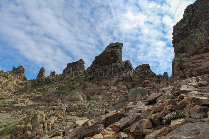 Paisaje de la montaña, Corse, Francia imagen de archivo