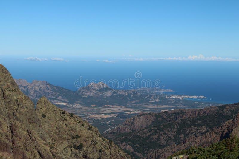 Paisaje de la montaña, Corse, Francia fotografía de archivo libre de regalías