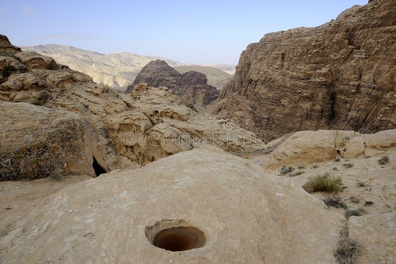 Paisaje de la montaña del desierto, Jordania fotos de archivo libres de regalías