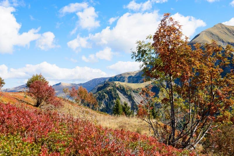 Paisaje de la montaña del otoño imágenes de archivo libres de regalías
