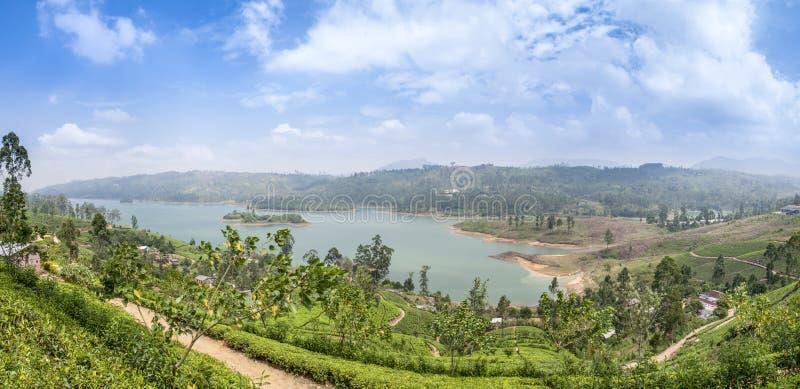 Paisaje de la montaña del panorama imagen de archivo