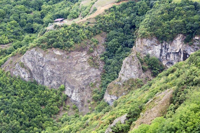 Paisaje de la montaña El paisaje en Armenia (Tatev) imagen de archivo