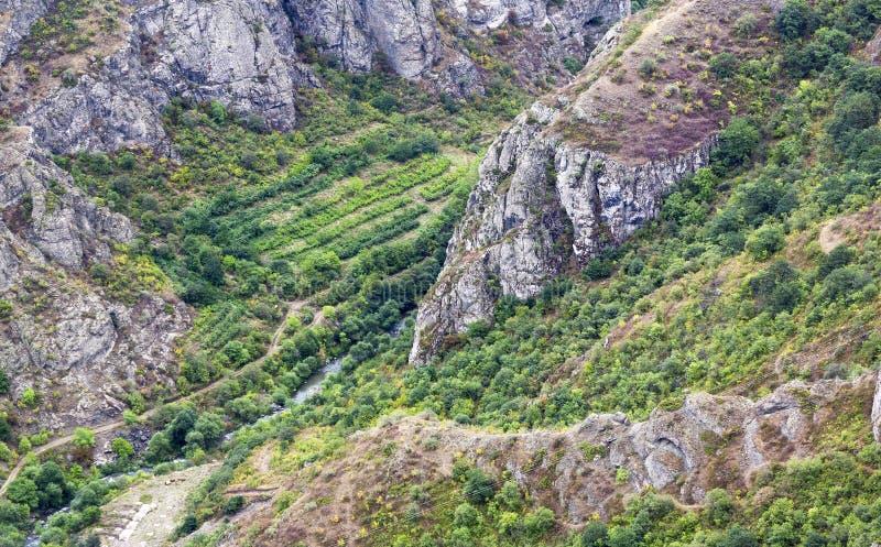 Paisaje de la montaña El paisaje en Armenia (Tatev) imagenes de archivo