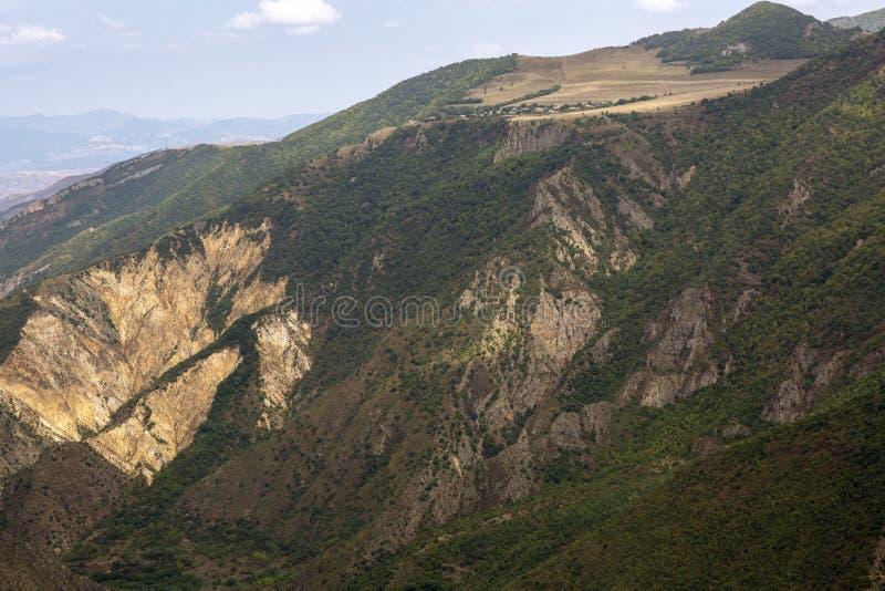 Paisaje de la montaña El paisaje en Armenia (Tatev) fotos de archivo