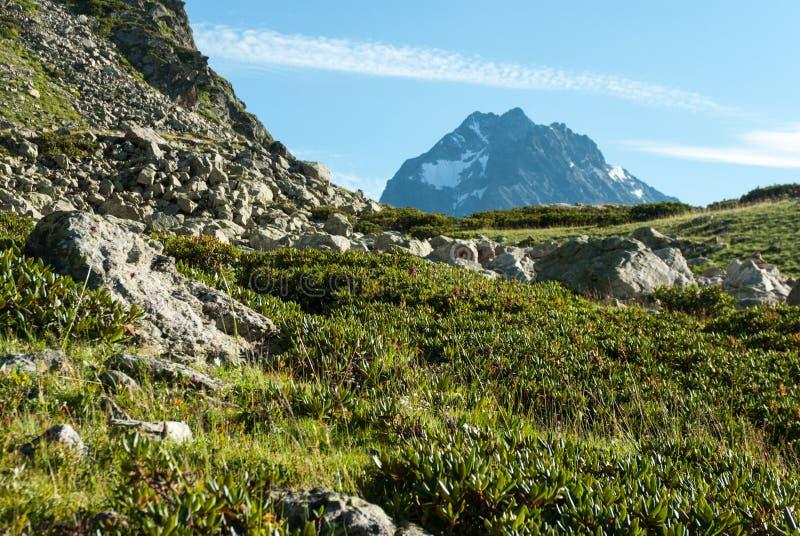 Paisaje de la montaña en Arkhyz fotografía de archivo