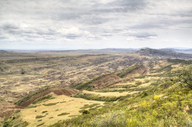 Paisaje de la montaña en David Gareja foto de archivo