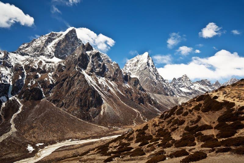 Paisaje de la montaña en la región de Everest, Nepal foto de archivo libre de regalías