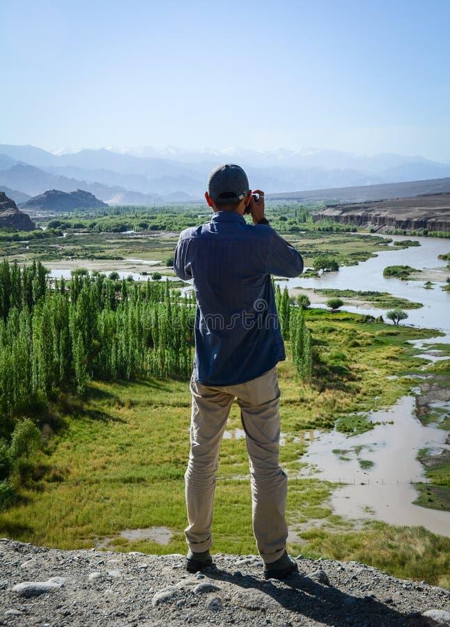 Paisaje de la montaña en Ladakh, la India fotos de archivo