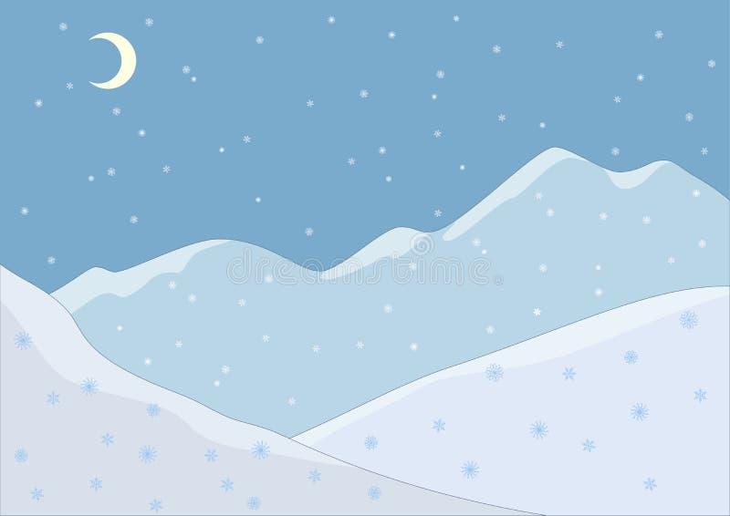 Paisaje de la montaña en noche libre illustration