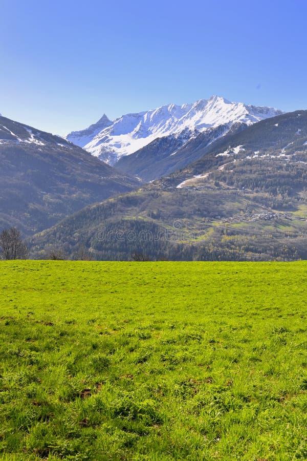 Paisaje de la montaña en primavera imágenes de archivo libres de regalías