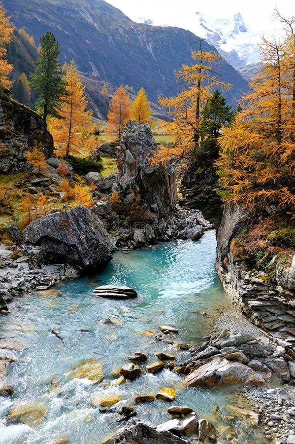 Paisaje de la montaña - Innergschloss, Austria foto de archivo libre de regalías