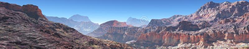 Paisaje de la montaña, panorama, bandera stock de ilustración