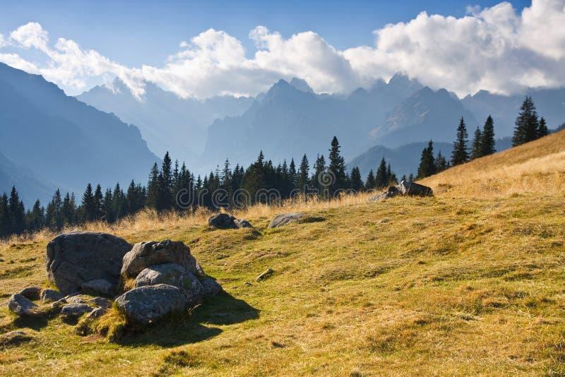 Paisaje de la montaña, Tatry foto de archivo libre de regalías