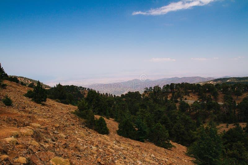 Paisaje de la montaña de Troodos fotos de archivo