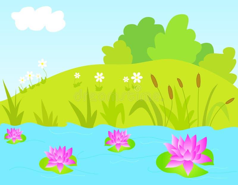 Paisaje de la naturaleza libre illustration
