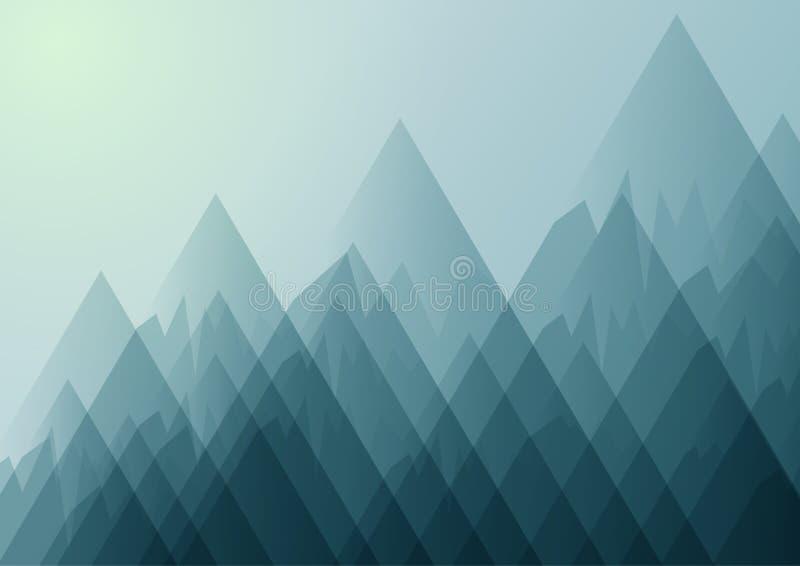Paisaje de la naturaleza con el fondo abstracto de las montañas libre illustration