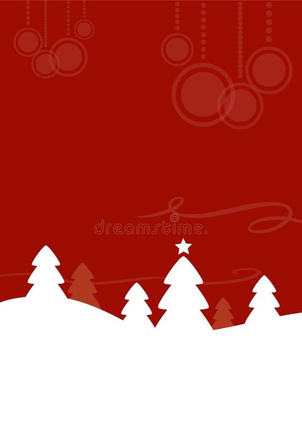 Paisaje de la Navidad ilustración del vector
