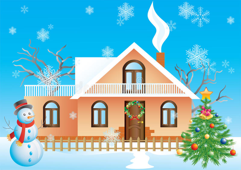 Paisaje de la Navidad. libre illustration