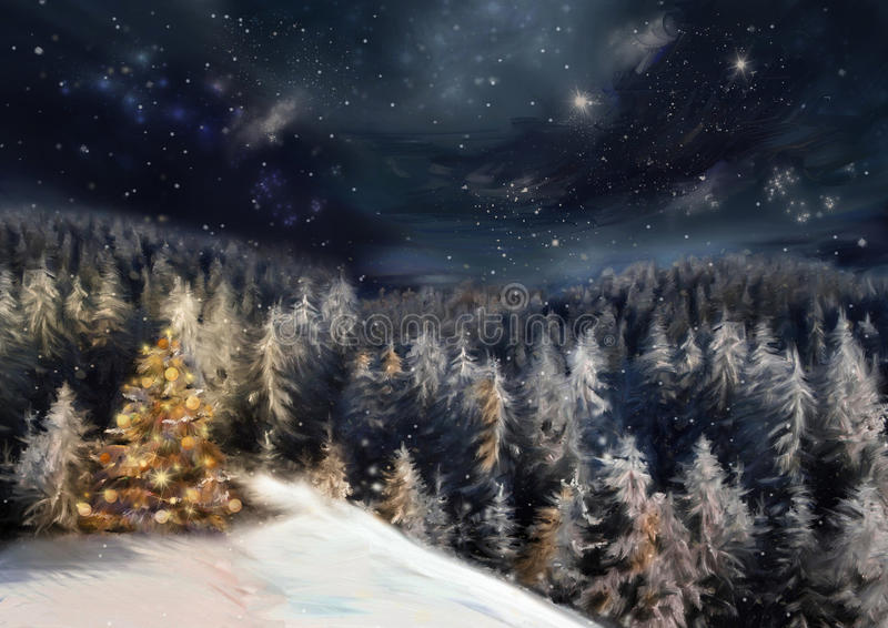 Paisaje de la Navidad libre illustration