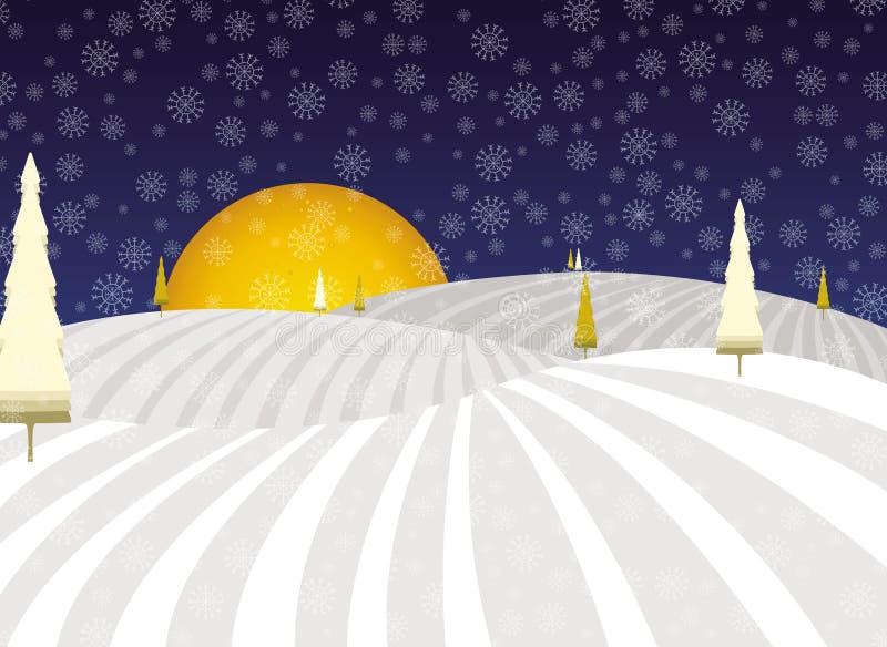 Paisaje de la Navidad del cuento de hadas del invierno imagen de archivo