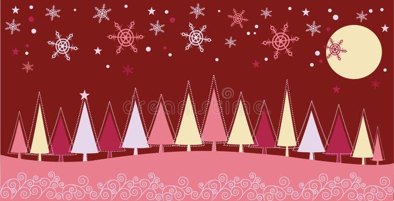 Paisaje de la Navidad del invierno libre illustration